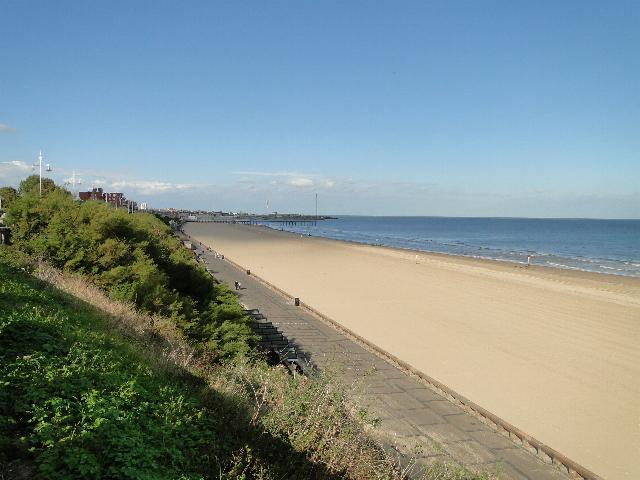 Sandy beach at Lowestoft by Adrian S Pye