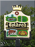 TR2646 : Coldred village sign by Oast House Archive