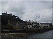 SW5130 : St Michaels Mount Harbour Buildings by Tony Emptage