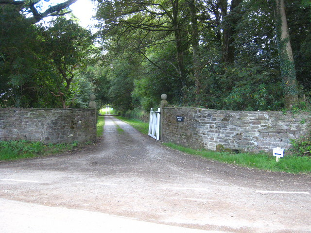 The entrance drive to Treworgey Manor