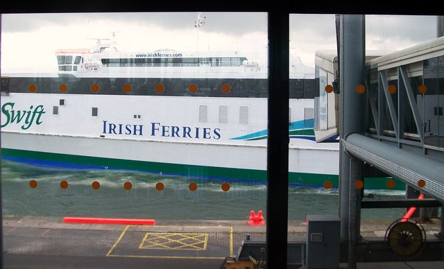 The arrival of HSC Jonathan Swift at Dublin Port