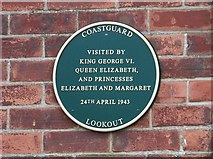 TF6742 : Plaque on the Coastguard Lookout by Elliott Simpson