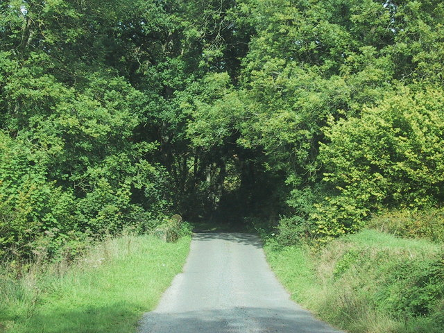 Minor road drops to cross the River Dalch