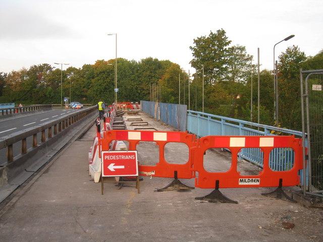 Preparing the bridge for repairs