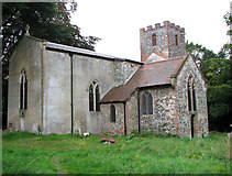 TG1908 : St Mary's church in Earlham by Evelyn Simak