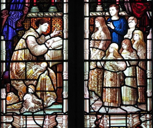 St Andrew's church in Colney - Victorian glass