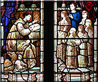 TG1807 : St Andrew's church in Colney - Victorian glass by Evelyn Simak