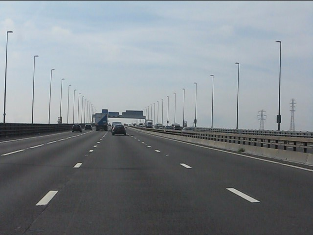 M5 Motorway - southbound on the Avonmouth Bridge