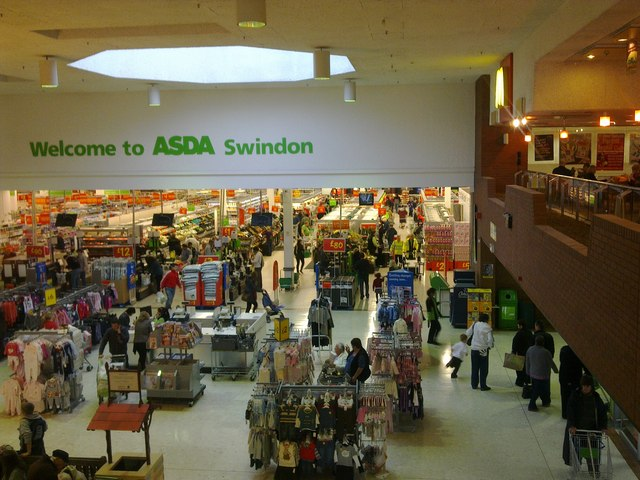 Inside ASDA, West Swindon © Brian Robert Marshall ...