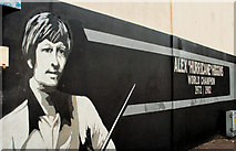 J3373 : Alex Higgins mural, Belfast by Albert Bridge