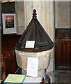 SU1084 : Font, St Mary's Church, Lydiard Tregoze, Swindon by Brian Robert Marshall
