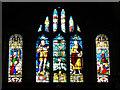 SU1084 : Stained glass window, St Mary's Church, Lydiard Tregoze, Swindon by Brian Robert Marshall