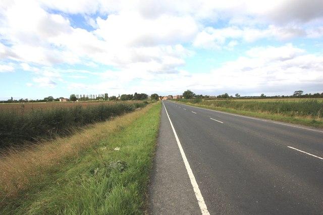 The A67 road near Kirklevington