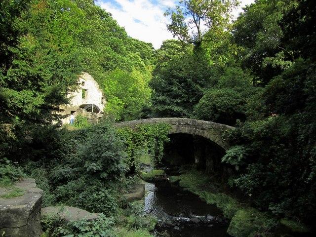 Bridge to west of Jesmond Dene Mill