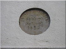 SD6715 : Plaque, Independent Sabbath School 1832, Belmont, Lancashire by Robert Wade