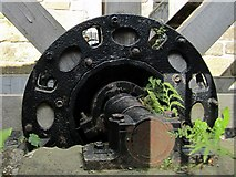 NZ2567 : Water wheel, The Old Mill, Jesmond Dene by Andrew Curtis