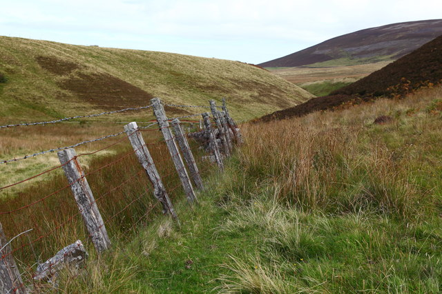 Old fenceline in the Green Cleugh