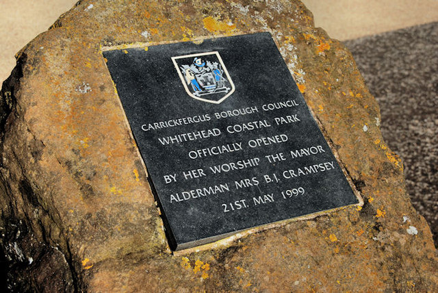 Coastal park plaque, Whitehead