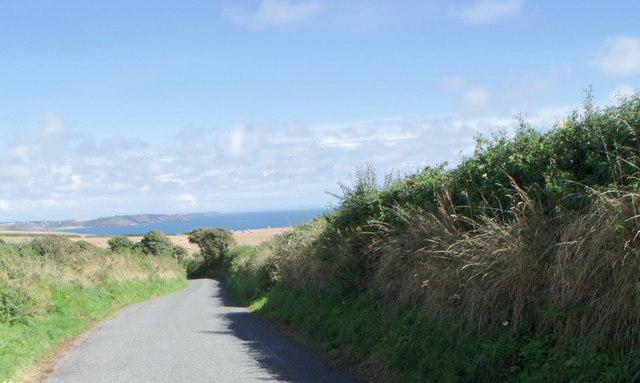 Minor road east of Stackpole, Pembrokeshire