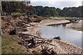 NT6478 : Bank erosion, Hedderwick Burn by Jim Barton