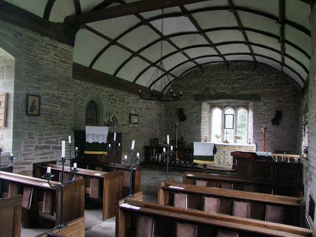 Llangua Parish Church, interior