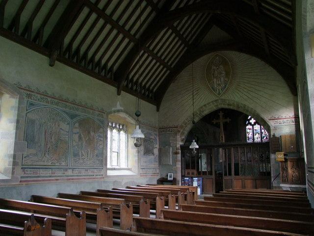 Llanfair Kilgeddin,. St Mary, interior