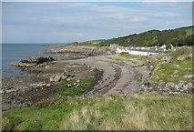 NS2515 : The shore at Dunure by Humphrey Bolton