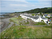 NS2515 : Cottages at Dunure by Humphrey Bolton