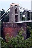 ST5673 : The west pier of the Clifton Suspension Bridge by Steve Daniels