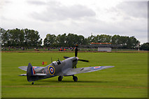 SU8707 : Spitfire at the Goodwood Revival 2010 by Christine Matthews