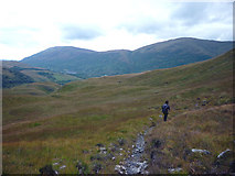 NN0548 : Stalkers' path Glen Ure by Karl and Ali
