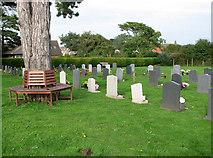 TM5286 : St Edmund's church in Kessingland - churchyard by Evelyn Simak