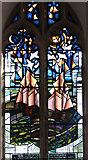 TM5286 : St Edmund's church in Kessingland - modern glass by Evelyn Simak
