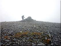 NN3885 : Summit cairn, Beinn a' Chaorainn, 1052m by Karl and Ali
