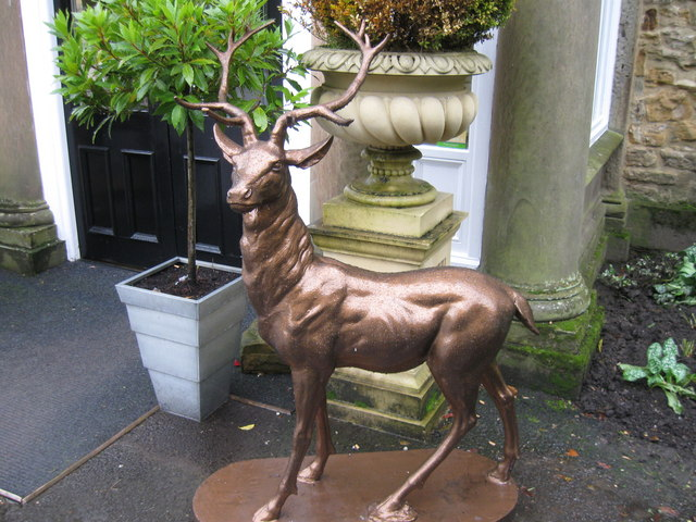 Fallow Deer Statue, Whitworth Hall Hotel