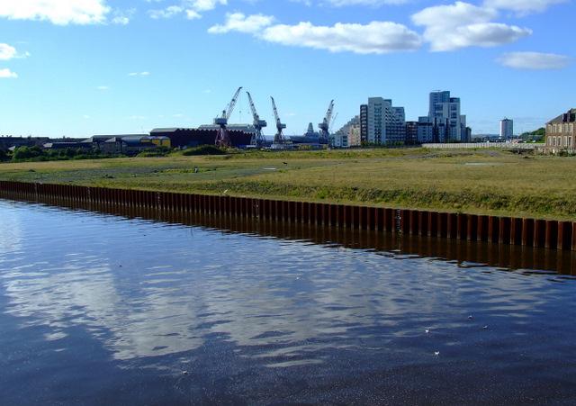 Development site by the River Kelvin