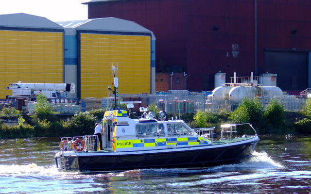 Police boat on the Clyde