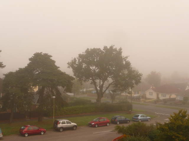 Northbourne: a very misty morning