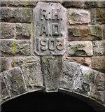 SJ8959 : Plaque on the boathouse by Jonathan Kington