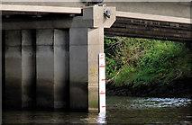 J3371 : Height marker, River Lagan, Belfast by Albert Bridge