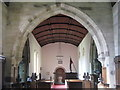 NY9166 : St. Michael's Church, Warden - nave (2) by Mike Quinn