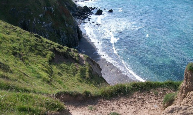 Cliff top path above a small cove
