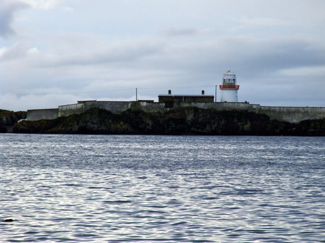 Rotten Island Lighthouse from the shore near Killybegs