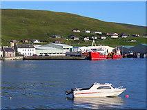 HU4039 : Bay at Scalloway by Colin Smith