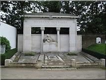 TQ2282 : Kensal Green: St Mary's Roman Catholic Cemetery: The Belgian War Memorial by Nigel Cox