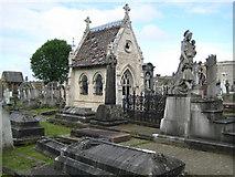 TQ2282 : Kensal Green: St Mary's Roman Catholic Cemetery: A mortuary chapel by Nigel Cox