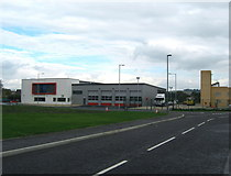 NZ2027 : Bishop Auckland Community Fire Station and training tower by peter robinson
