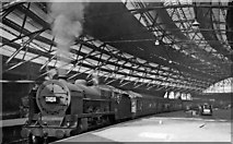 SJ3590 : Liverpool Lime Street Station with an Up express by Ben Brooksbank