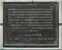 SK5319 : Plaque on Loughborough Carillon by Mat Fascione