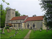 TM0843 : Hintlesham St Nicholas's church by Adrian S Pye